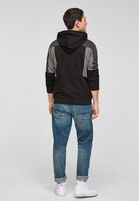 Q/S designed by - Zip-up sweatshirt - black - 2