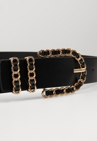 Gina Tricot - SANDRA BELT - Pásek - black/gold-coloured - 2