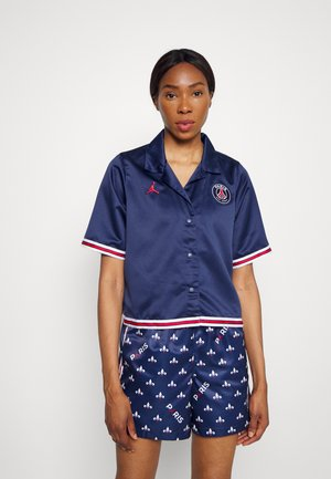 PARIS ST GERMAIN SOLID - Button-down blouse - midnight navy/university red