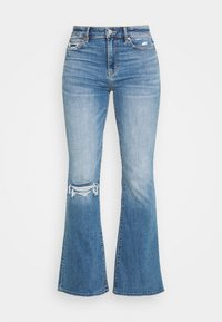 American Eagle - SUPER HIGH RISE - Flared Jeans - cool hand blue - 3