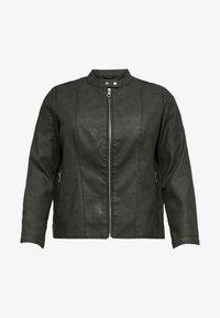 ONLY Carmakoma - Imiteret læderjakke - black - 0