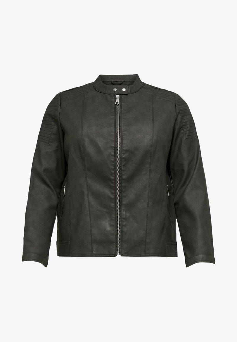 ONLY Carmakoma - Imiteret læderjakke - black