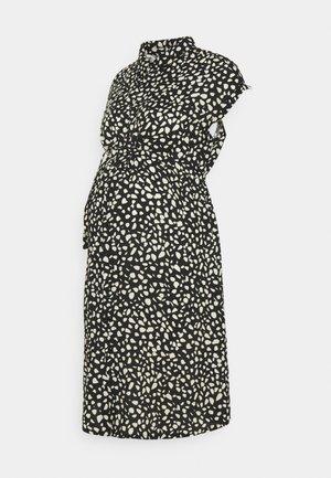 PEBBLE DRESS - Blusenkleid - black