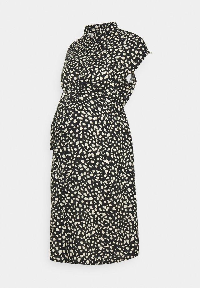 PEBBLE DRESS - Vestido camisero - black