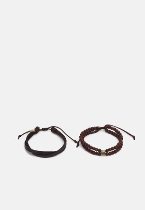 BEADED COMBO 2 PACK - Armband - brown