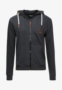 INDICODE JEANS - QUINBY - Hoodie met rits - charcoal mix - 3