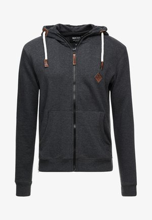 QUINBY - veste en sweat zippée - charcoal mix