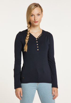 PINCH SOLID - Long sleeved top - navy