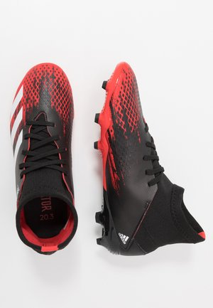 PREDATOR 20.3 FG - Moulded stud football boots - core black/footwear wihte