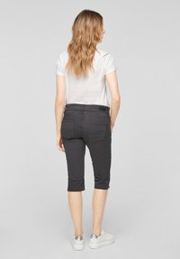 QS by s.Oliver - Denim shorts - dark grey - 2