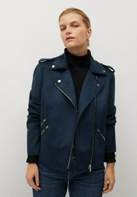 Violeta by Mango - SEUL8 - Faux leather jacket - bleu marine - 0