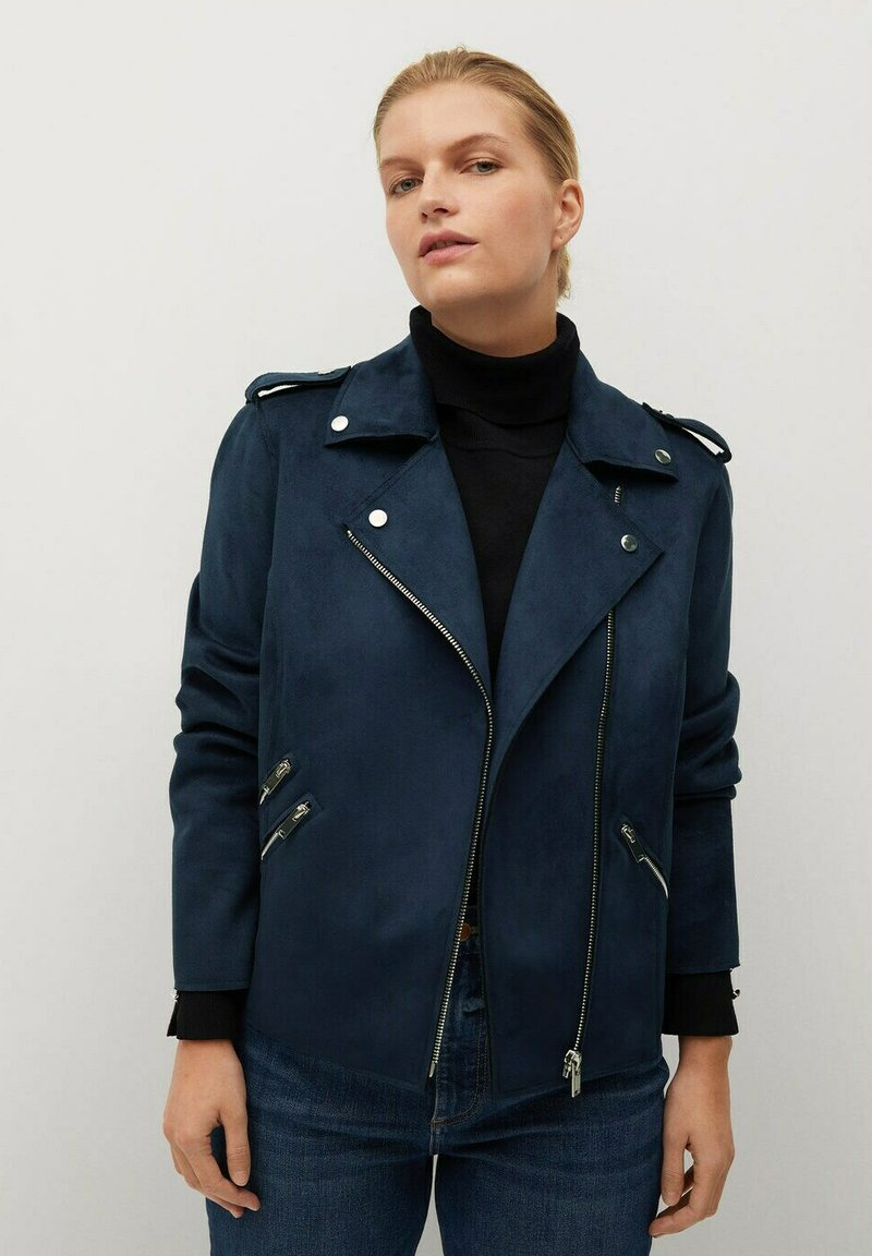 Violeta by Mango - SEUL8 - Faux leather jacket - bleu marine