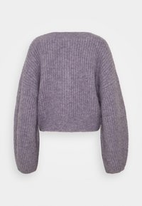 Weekday - HILLEVI HAIRY  - Cardigan - lilac purple dusty light - 1