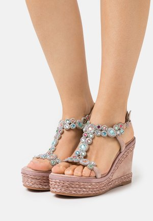 Plateausandalette - old pink