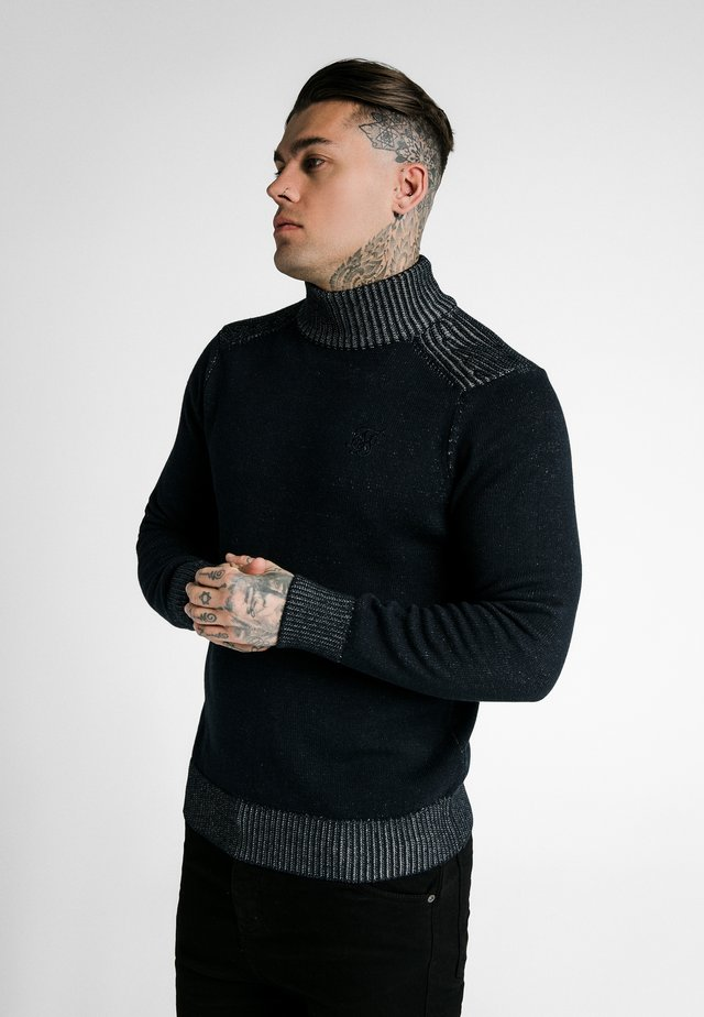 TURTLE NECK JUMPER - Maglione - navy