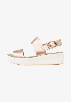 LOS ANGELES WIND 2 BANDS - Platform sandals - rose gold