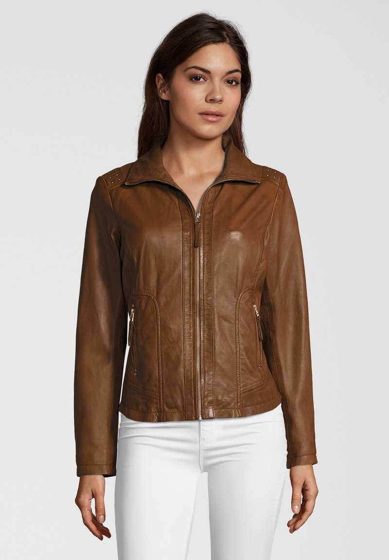 7eleven - AGNES - Leren jas - brown