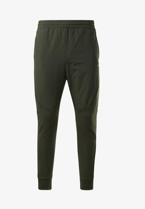 KNIT-WOVEN JOGGERS - Pantalon de survêtement - green