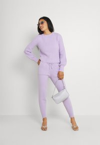 Missguided - TEXTURED JUMPER AND JOGGER SET - Jumper - lilac - 1