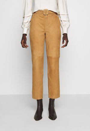 OBJDALINA PANT - Leather trousers - incense
