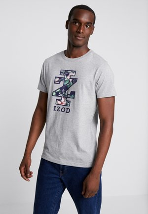 FLOWER LOGO TEE - Triko s potiskem - light grey heather