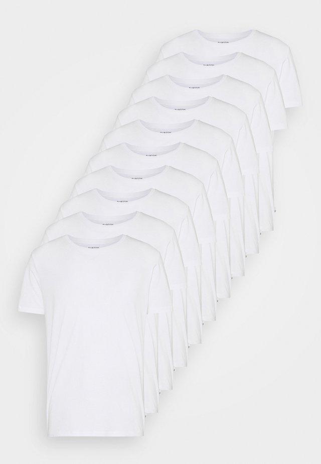 SHORT SLEEVE CREW 10 PACK - T-shirt basic - white