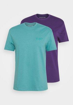 UNISEX 2 PACK - Basic T-shirt - purple/turquoise