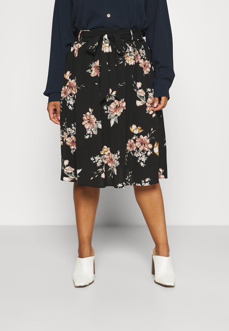 ONLY Carmakoma - CARLUXCILLE MIDI BELT SKIRT - A-line skirt - black