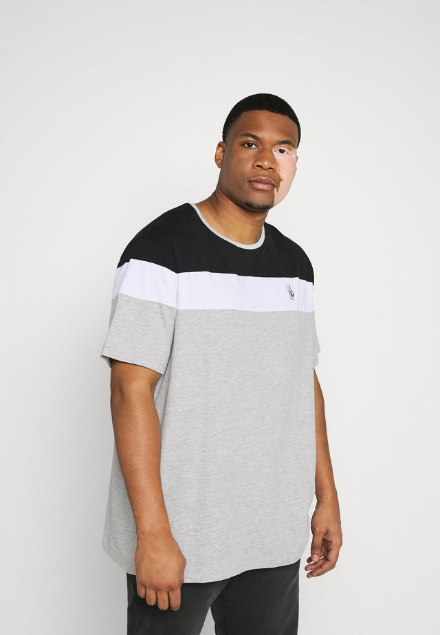 PANEL TEE - Print T-shirt - grey melange