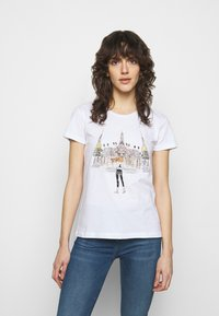 Patrizia Pepe - MAGLIA - T-shirt imprimé - bianco/temple - 0