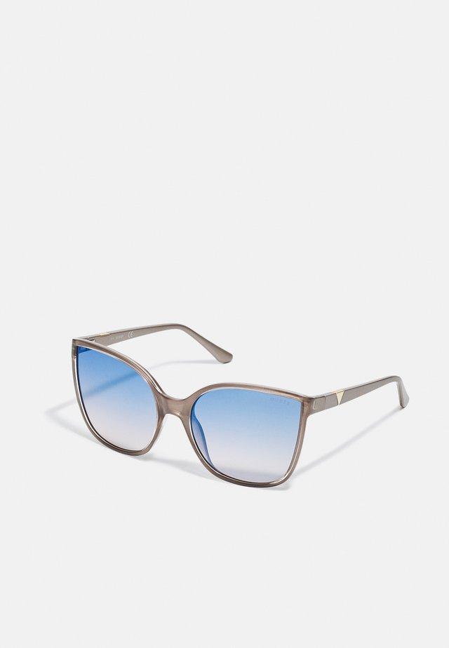 Occhiali da sole - shiny beige / blu mirror