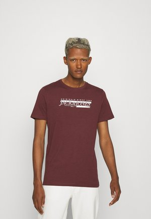 JORCLAY MONOCHROM TEE CREW NECK - T-shirt con stampa - bordeaux