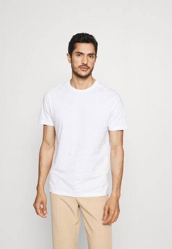 5 PACK - Basic T-shirt - white/black/bordeaux