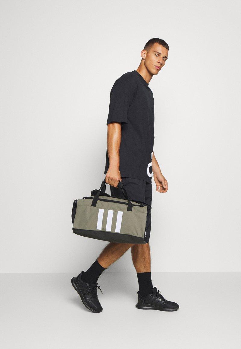 adidas Performance - ESSENTIALS 3 STRIPES SPORTS DUFFEL BAG UNISEX - Sports bag - legend green/black/white