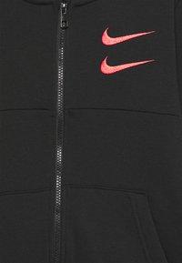 Nike Sportswear - Zip-up hoodie - black/black/ember glow - 2