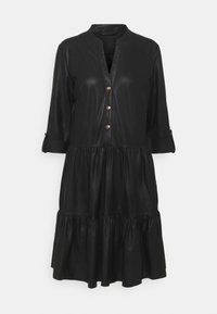 DEPECHE - DRESS - Shirt dress - black - 0