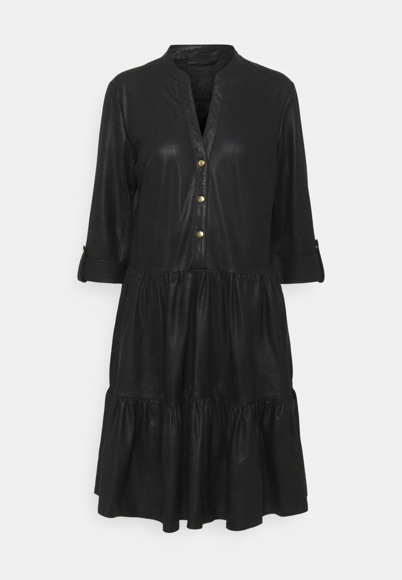 DEPECHE - DRESS - Shirt dress - black