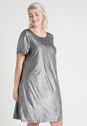 MSHINE DRESS - Žerzejové šaty - silver