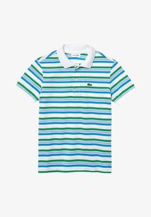 Polo - weiß/grün/blau/blau