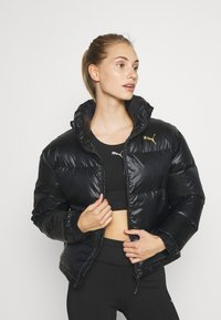 Puma - SHINE JACKET - Down jacket - black - 0
