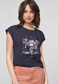 s.Oliver - Print T-shirt - navy - 0