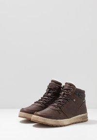 TOM TAILOR - Höga sneakers - brandy - 2