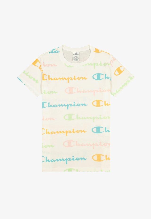 T-shirt z nadrukiem - white allover pastel