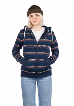 SONIA - Zip-up sweatshirt - dress blue/stripe