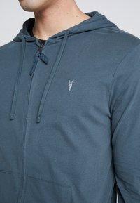 AllSaints - BRACE HOODY - Zip-up hoodie - pier blue - 5