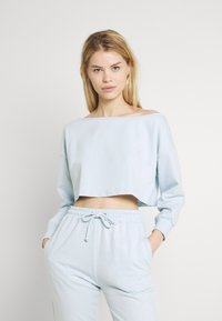 Missguided - OFF THE SHOULDER SET - Sweatshirt - baby blue - 0