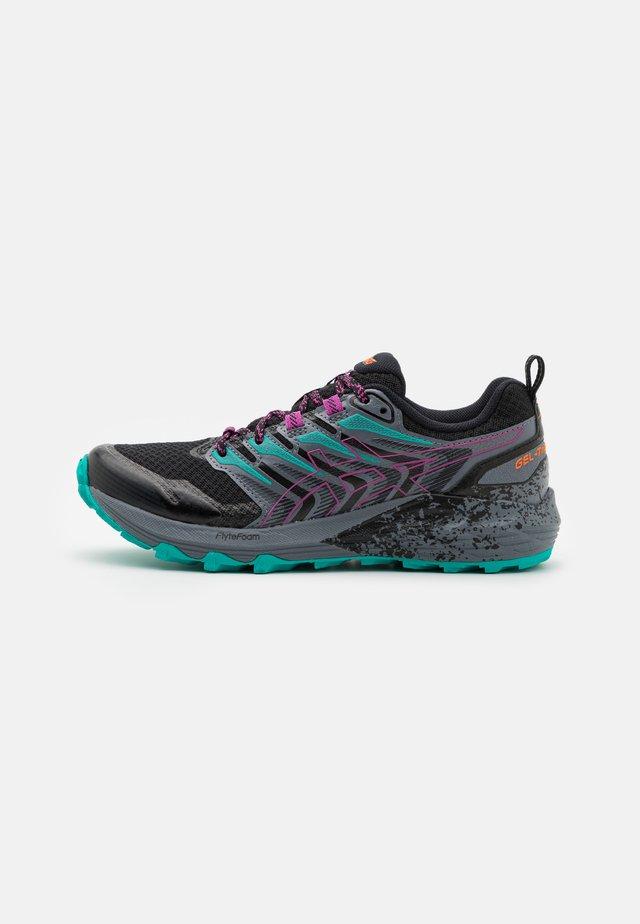 GEL-TRABUCO TERRA - Chaussures de running - black/digital grape