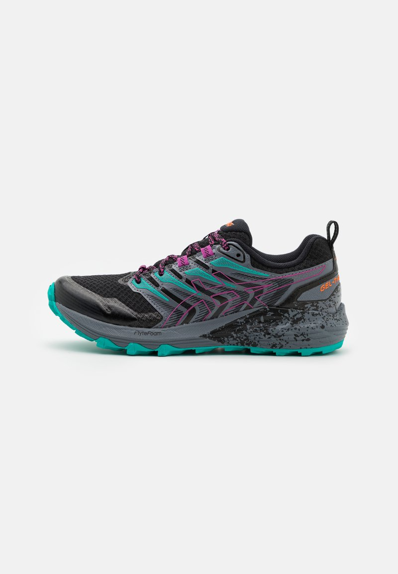 ASICS - GEL-TRABUCO TERRA - Løpesko for mark - black/digital grape