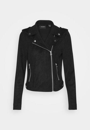 VMBOOSTBIKER SHORT JACKET - Faux leather jacket - black