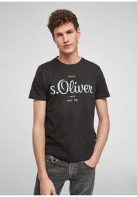 s.Oliver - Print T-shirt - black - 0
